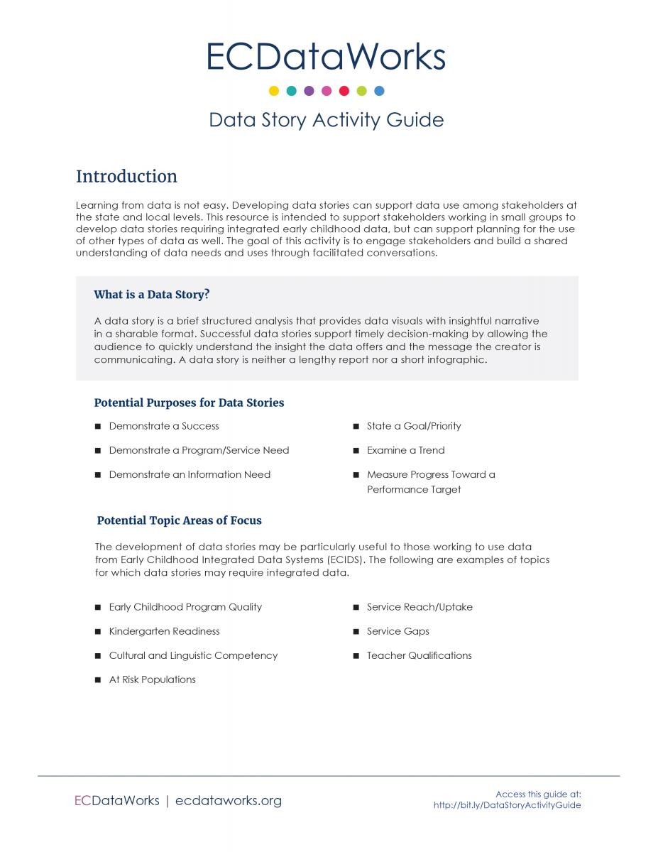 Report Cover for Data Story Activity Guide